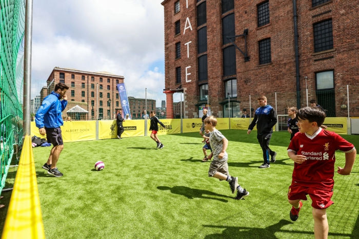 Floating football pitch coming to Royal Albert Dock Liverpool for school summer holidays