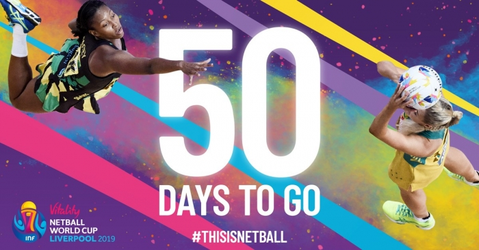 50 days to go until the Vitality Netball World Cup 2019