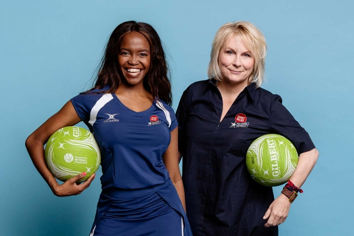 Jennifer Saunders and Oti Mabuse take to the court for star-studded Sport Relief Netball Match