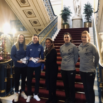 """Lord Mayor of Liverpool hails Women's Super League Merseyside derbies for promoting """"equality for all"""""""