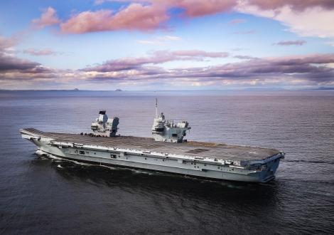 Royal Navy aircraft carrier HMS Prince of Wales