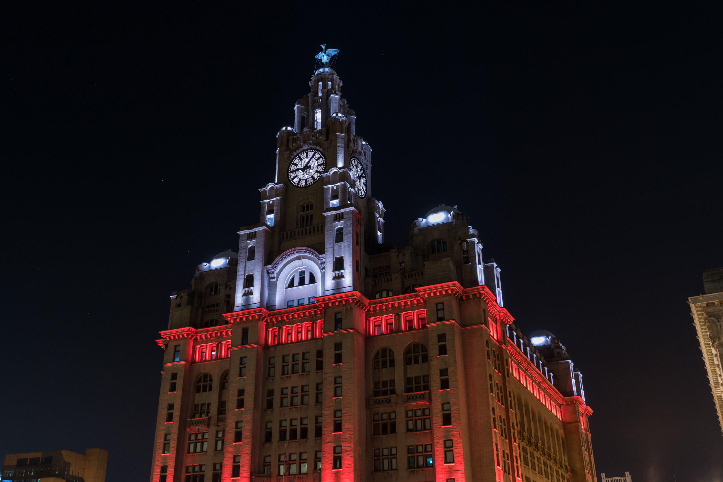 Royal Liver Building Light Show