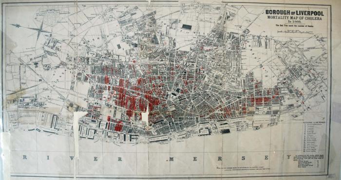 Cholera Map of 1866