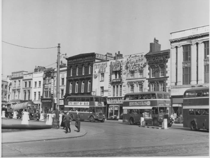 Commutation Row pictured here in 1959