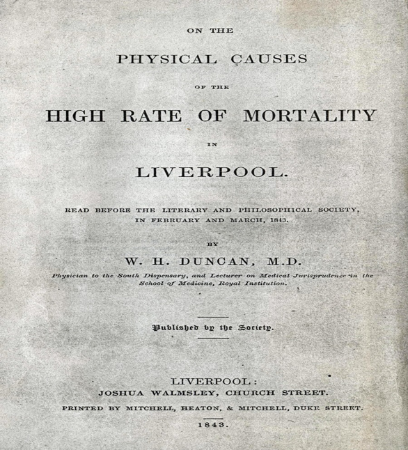 Physical Causes of the High Rate of Mortality in Liverpool