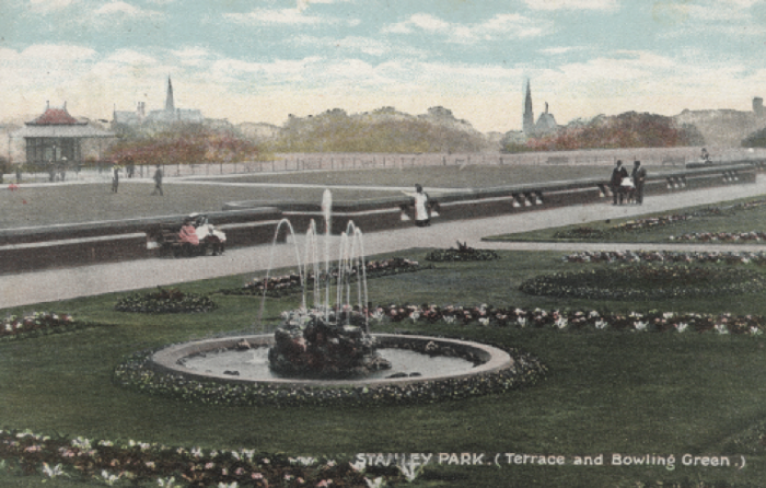 Stanley Park 1904 - Showing Terrace and Bowling Green