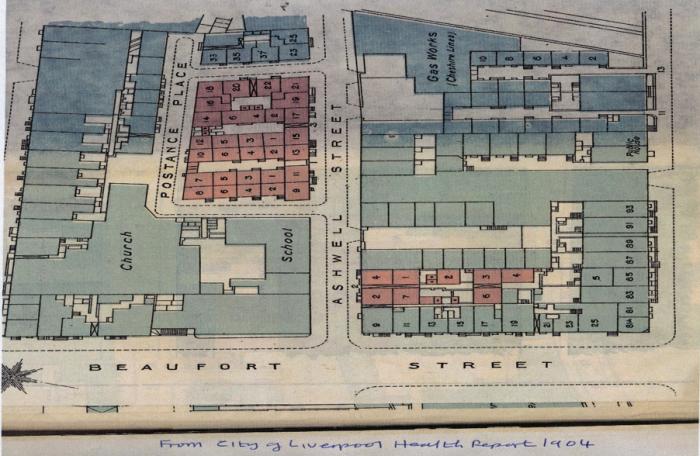 Map of Beaufort Street, 1904