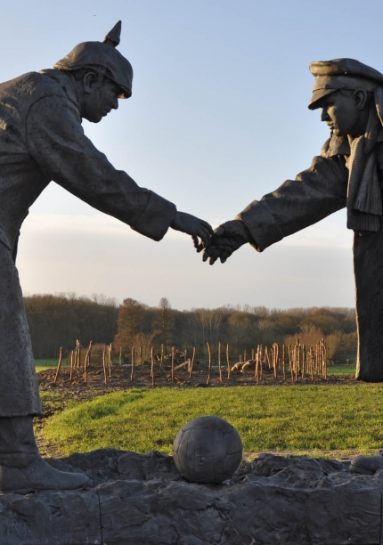 The Christmas Truce Statue