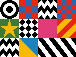 Design motifs from Sir Peter Blake¹s Everybody Razzle Dazzle, 2015