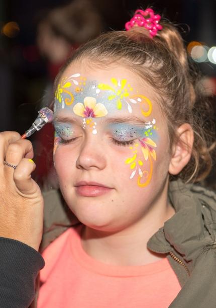 UV & Glitter Face Painting