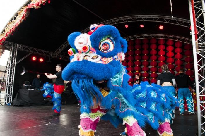 Traditional Chinese Lion, Dragon & Unicorn Dance