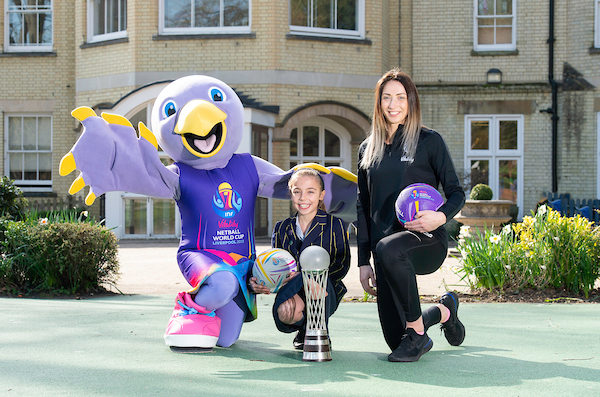 Talented youngster meets her Vitality Netball World Cup 2019 mascot creation