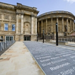 Liverpool Central Library with the front paving featured