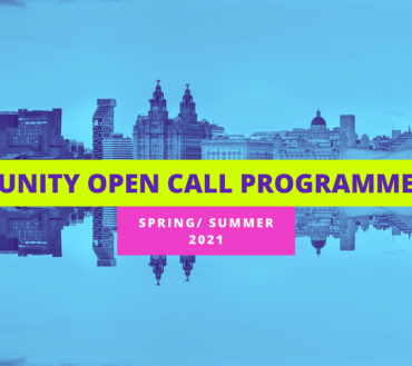 Unity announce first Open Call Programme for Local Artists to be a part of their Spring/Summer 2021 Season