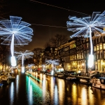 light installations in amsterdam in the dark