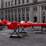 biennial art installation in exchange square