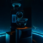 Sound system in a dark room