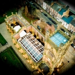 aerial view of st lukes church the venue for the little theatre festival family fun shows
