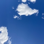 blue sky with white clouds in it for tate liverpool project