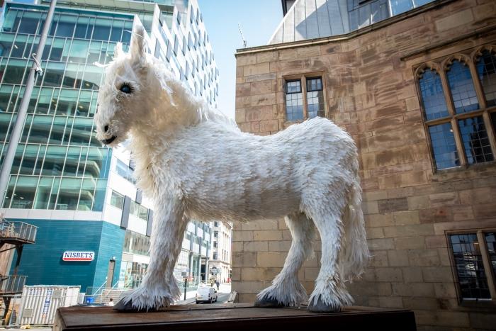 Stunning sculpture celebrates historic horsepower on Liverpool Plinth