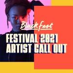 artwork for 2021 artist call out for blackfest