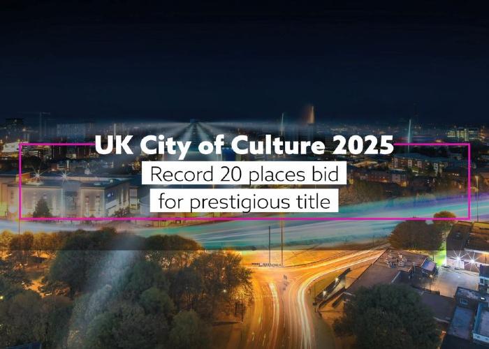 Record 20 places bid for prestigious City of Culture 2025 title