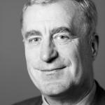 black and white photo of alan smith