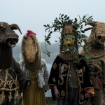 fourcharacters dressed in costume with their faces invisible