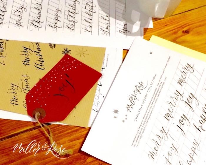 Christmas Modern Calligraphy workshop